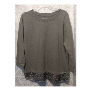 Stylus Long Sleeve Sequin Top